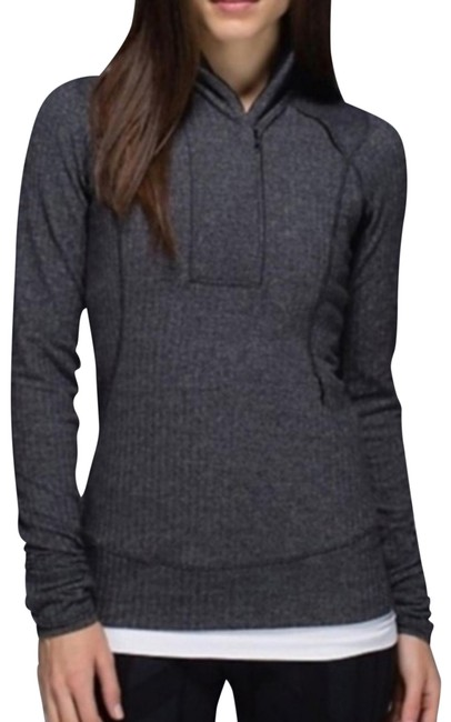 Item - Rare Heathered Black 1/2 Zip Base Runner Pullover Activewear Top Size 2 (XS)