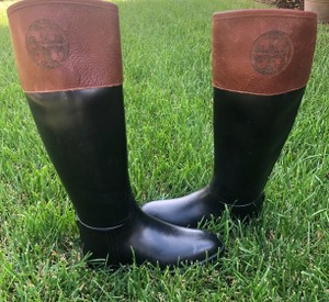 Tory Burch black and Almond Boots