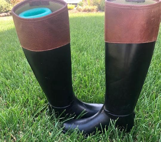 Tory Burch black and Almond Boots Image 1