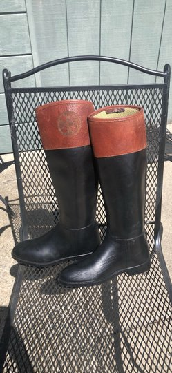 Tory Burch black and Almond Boots Image 5