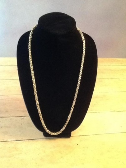 Preload https://item3.tradesy.com/images/gold-colored-woven-chain-necklace-26027-0-0.jpg?width=440&height=440