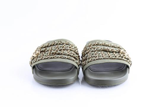 Chanel Green Mules Image 1