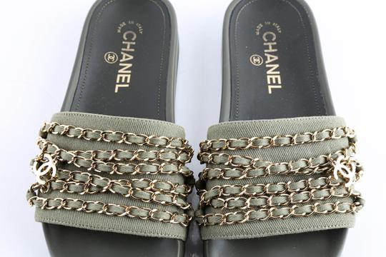 Chanel Green Mules Image 11