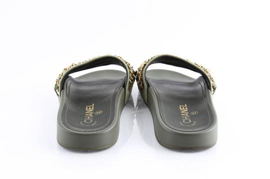Chanel Green Mules Image 4