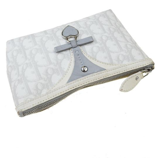 Dior Christian Dior Trotter Pattern Pouch PVC Patent Leather White Image 4