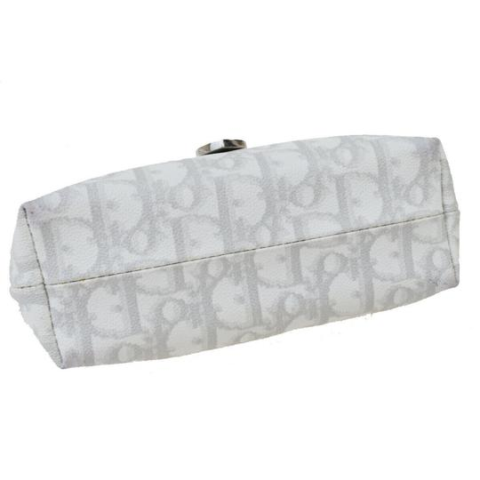 Dior Christian Dior Trotter Pattern Pouch PVC Patent Leather White Image 5