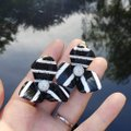 Lele Sadoughi Set of 2 Pairs -Lele Sadoughi Stripe Trillium Clip on Earrings - E920 Image 1