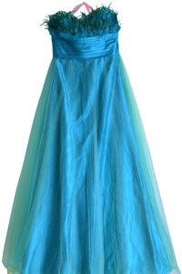 Alexia Designs Feathers Strapless Prom Homecoming Tulle Dress