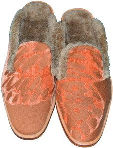 Free People Orange Mules
