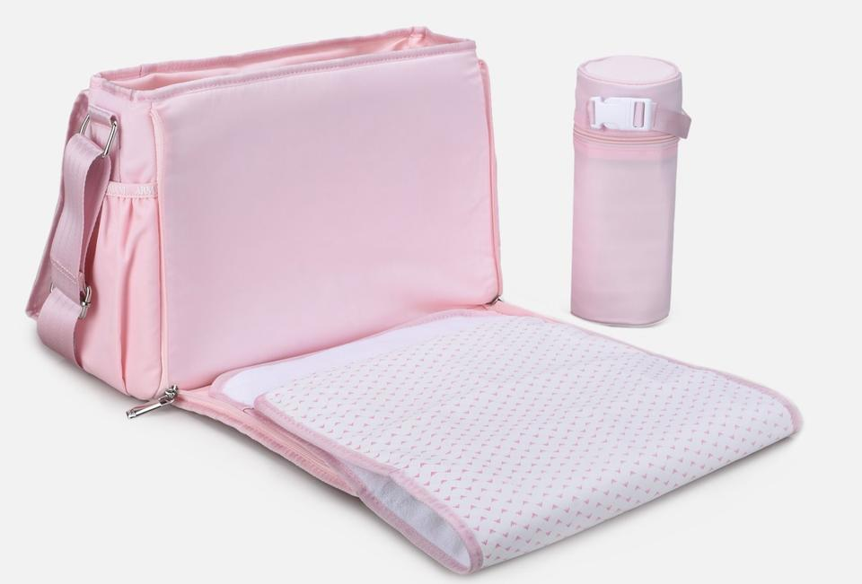 first look great deals 2017 on wholesale Emporio Armani Junior Changing Pink Polyamide Diaper Bag 18% off retail