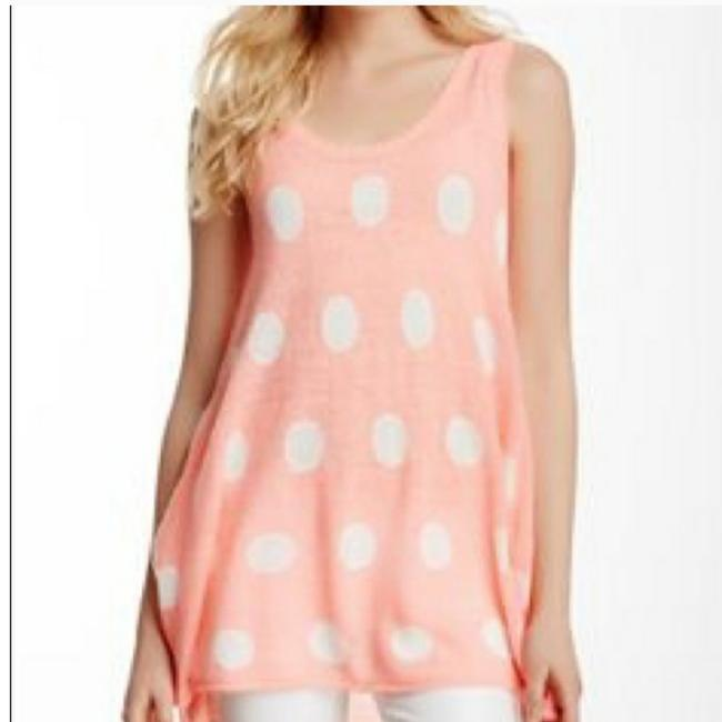Wildfox Rare Label Polka Dot Knit Pink White Sweater Wildfox Rare Label Polka Dot Knit Pink White Sweater Image 1