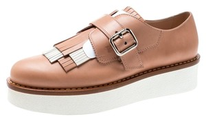 Tod's Leather Detail Rubber Pink Flats