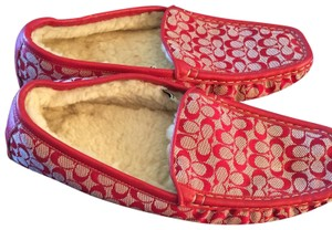 Coach Red Flats