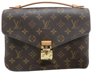 Louis Vuitton Lv Metis Monogram Canvas Satchel in Brown