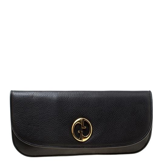 Gucci Leather Black Clutch Image 2