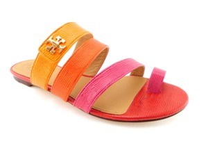 Tory Burch Strappy Slide Kira Miller Reva Red / Pink / Orange Sandals
