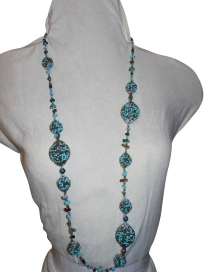 Preload https://item1.tradesy.com/images/turquoise-and-bronze-beaded-ball-necklace-260290-0-0.jpg?width=440&height=440