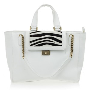 Jimmy Choo Leather Tote in White