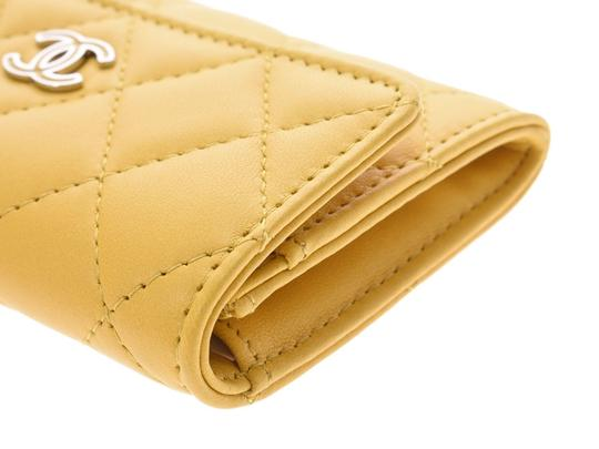 Chanel Yellow Matelasse Lambskin Leather Coin Purse Wallet Image 6