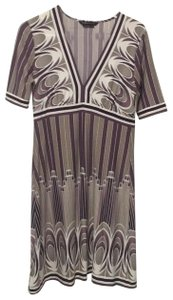 BCBGMAXAZRIA short dress multi - off white, purples on Tradesy