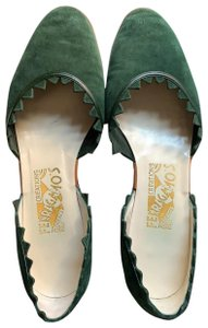 Salvatore Ferragamo hunter green Flats