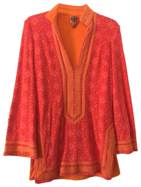Item - Orange and Pink Terry Cover-up/Sarong Size 2 (XS)
