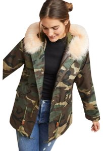 Anthropologie Camo Parka By Ava & Kris Nwot Military Jacket