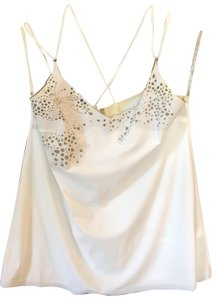 Cop. Copine Strappy Sexy Cool Summer Casual Top white