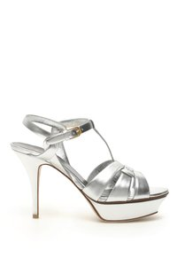 Saint Laurent 535182 0ps00 8105 Silver Sandals