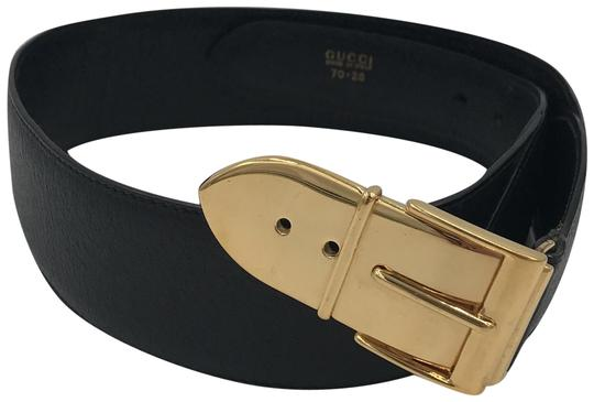 Preload https://img-static.tradesy.com/item/26030697/gucci-black-and-gold-leather-buckle-belt-0-1-540-540.jpg