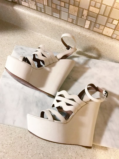 ALAA Cut Out Wedge White Sold Out Ivory Platforms Image 7