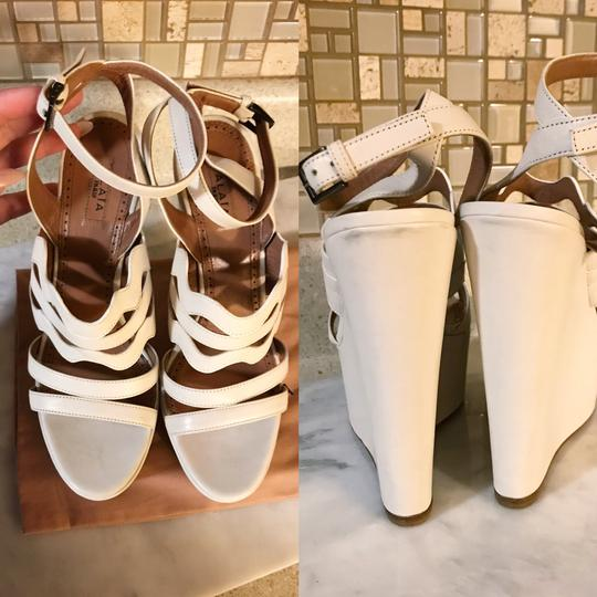 ALAA Cut Out Wedge White Sold Out Ivory Platforms Image 8