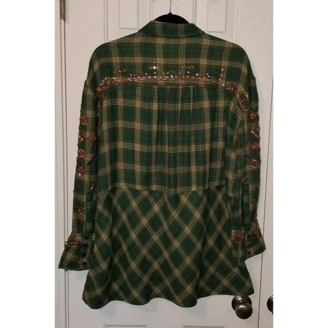 Free People New Shirt Button Down Shirt Green Image 1