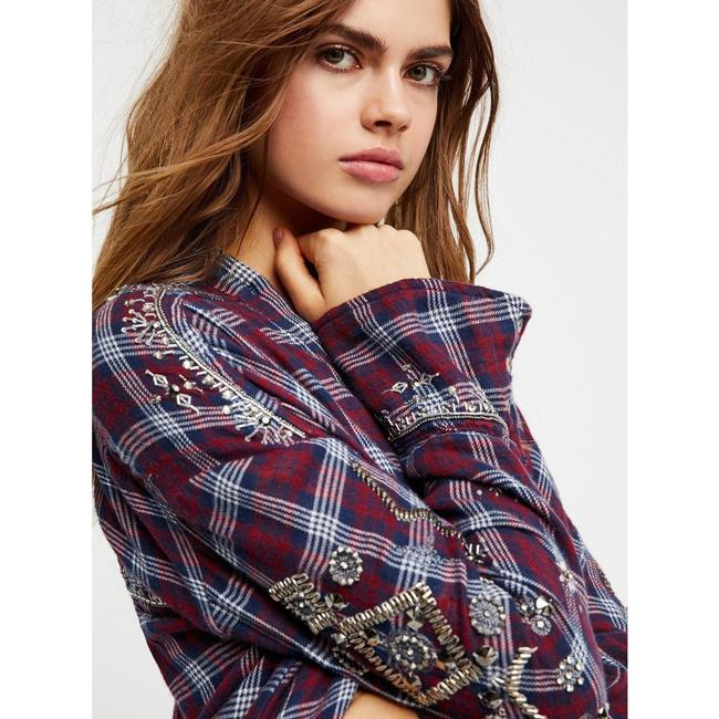 Free People New Shirt Button Down Shirt Green Image 4