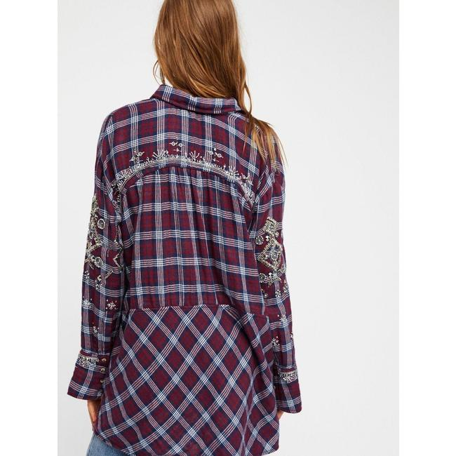 Free People New Shirt Button Down Shirt Green Image 5