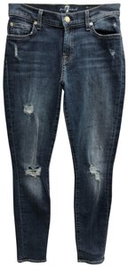7 For All Mankind The Ankle Skinny Jeans-Medium Wash