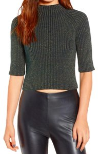 Leith Stretchy Shimmering Mock Neck Holiday Dazzling Sweater