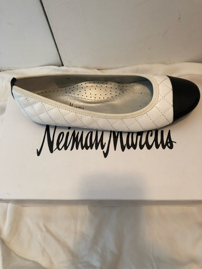 Neiman Marcus white and black Flats Image 1