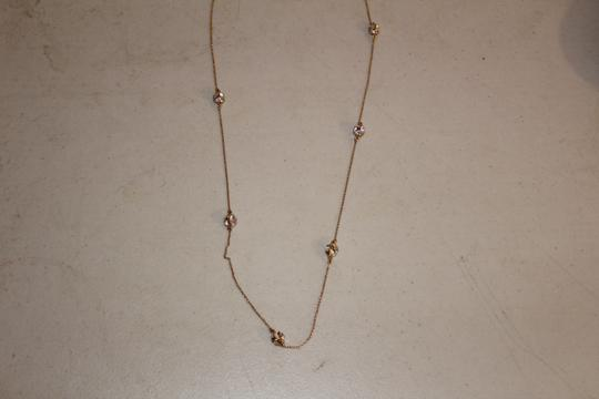 Kate Spade NWT KATE SPADE LADY MARMALADE LONG NECKLACE GOLD TONE CLEAR CRYSTAL Image 3