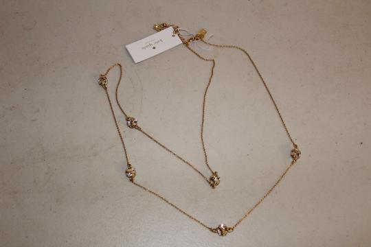 Kate Spade NWT KATE SPADE LADY MARMALADE LONG NECKLACE GOLD TONE CLEAR CRYSTAL Image 4