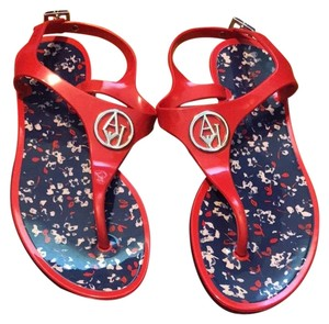 Armani Jeans red Sandals