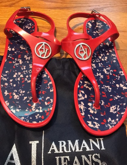 Armani Jeans red Sandals Image 1
