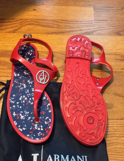 Armani Jeans red Sandals Image 3