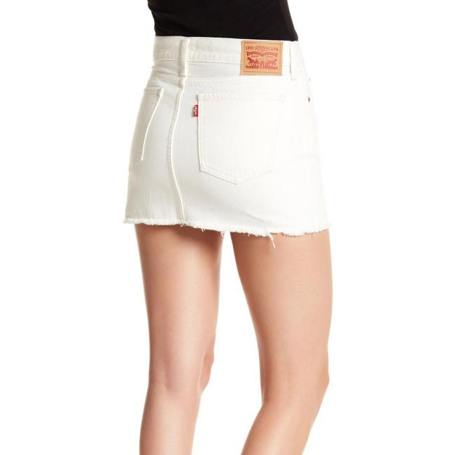Levi's Mini Skirt White Image 3