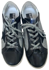 Golden Goose Deluxe Brand Black / Silver Athletic