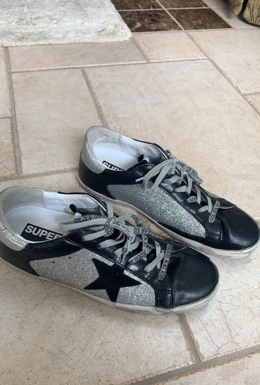 Golden Goose Deluxe Brand Black / Silver Athletic Image 1