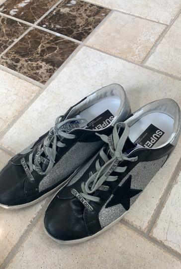 Golden Goose Deluxe Brand Black / Silver Athletic Image 2