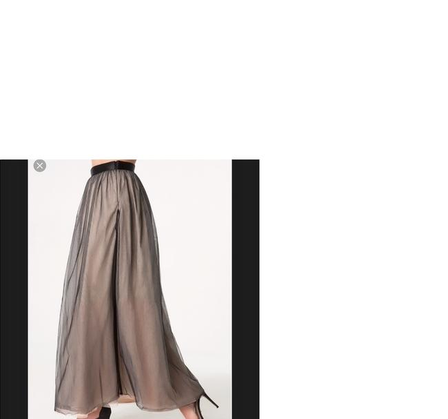 bebe Gown Tulle Formal Prom Maxi Skirt Black Tan Image 1