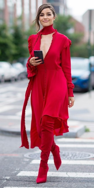 red Maxi Dress by Magda Butrym Image 4