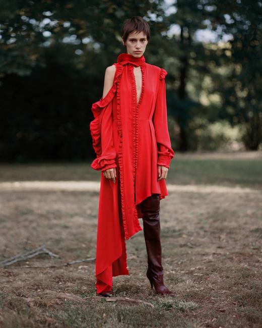 red Maxi Dress by Magda Butrym Image 5